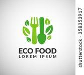 organic food logo. eco food...   Shutterstock .eps vector #358353917