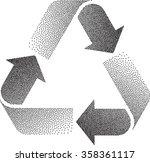 recycle stipple effect vector...   Shutterstock .eps vector #358361117