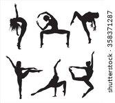 movement person shadow dance...   Shutterstock .eps vector #358371287
