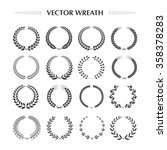 laurel wreaths collection on a... | Shutterstock .eps vector #358378283