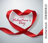 happy valentines day. red... | Shutterstock .eps vector #358385813
