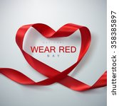 national wear red day. vector... | Shutterstock .eps vector #358385897