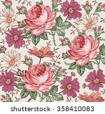 beautiful pink and white... | Shutterstock .eps vector #358410083