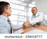 handshake. | Shutterstock . vector #358418777