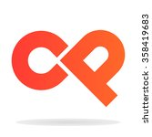 abstract letters c and p logo... | Shutterstock .eps vector #358419683