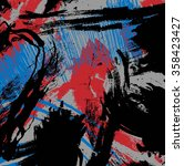 grunge brush stroke paint... | Shutterstock . vector #358423427