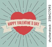 happy valentine's day card with ... | Shutterstock .eps vector #358427093