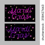 beautiful mardi gras party ... | Shutterstock .eps vector #358427663