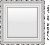 empty silver picture frame.... | Shutterstock .eps vector #358428383
