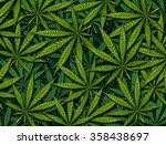 marijuana leaves background... | Shutterstock . vector #358438697