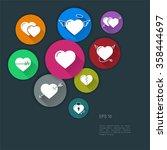 heart icon set vector. ...