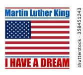 martin luther king day vector... | Shutterstock .eps vector #358451243