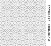 seamless white 3d pattern  ... | Shutterstock .eps vector #358456223