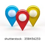 map pointer isolated on white