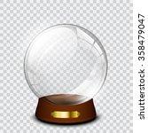 vector snow globe  | Shutterstock .eps vector #358479047