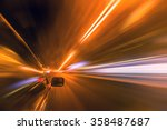 blurred urban look of the car... | Shutterstock . vector #358487687