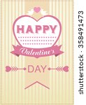 valentine's day poster  card. | Shutterstock . vector #358491473