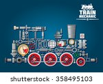 Steam Locomotive Train Made Up...