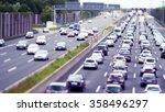 Traffic Jam On German Highway ...