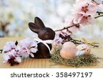 Easter Background  Card With...