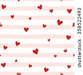 red glittering heart confetti...   Shutterstock .eps vector #358522493