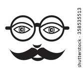 mustache guy face illustration... | Shutterstock .eps vector #358535513