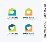 love home logo house logo real... | Shutterstock .eps vector #358545953