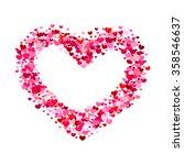 valentines heart. red heart... | Shutterstock .eps vector #358546637