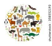 animal africa  parrot hyena... | Shutterstock . vector #358552193