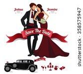 wedding invitation  design... | Shutterstock .eps vector #358575947