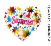 rainbow color print design.... | Shutterstock .eps vector #358579457