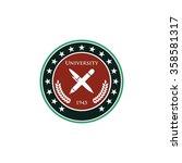 university logo template   Shutterstock .eps vector #358581317
