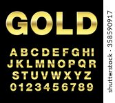 alphabetic gold fonts and... | Shutterstock .eps vector #358590917