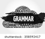 grammar word cloud  education... | Shutterstock .eps vector #358592417