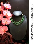 Beautiful Jade Necklace On Dar...