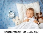 One Year Old Baby With Alarm...