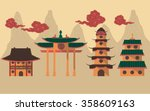 graphic of traditional chinese... | Shutterstock .eps vector #358609163