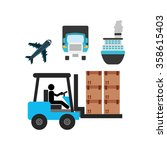 logistics service design  | Shutterstock .eps vector #358615403