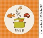 kids menu design    Shutterstock .eps vector #358616303