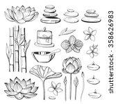 set of vector hand drawn...   Shutterstock .eps vector #358626983