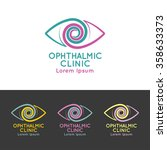 logo for ophthalmic clinic. set.... | Shutterstock .eps vector #358633373