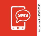 the sms icon. smartphone and...