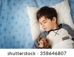six years old child sleeping in ... | Shutterstock . vector #358646807
