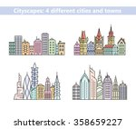 linear cityscapes. urban city... | Shutterstock .eps vector #358659227