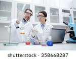 young scientists making test or ...   Shutterstock . vector #358668287