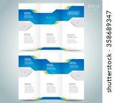 brochure design template vector ... | Shutterstock .eps vector #358689347