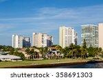 modern condos around the harbor ...   Shutterstock . vector #358691303