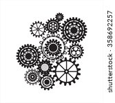 pattern of steampunk gear... | Shutterstock .eps vector #358692257