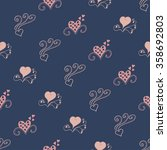 seamless background with hearts | Shutterstock .eps vector #358692803