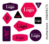 collection of sample logo and... | Shutterstock .eps vector #358698173